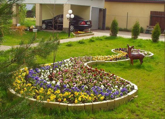 Фото дизайн цветочной клумбы